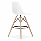 Eames Style DSW Stool with Backrest, White 71cm