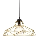 Industrial Harlow Cage Light - Gold