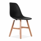 DSW Side Chair With Windsor Style Legs - Black