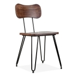 Susa Metal Hairpin Dining Chair, Black