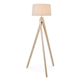 Tripod Wooden Floor Lamp - Natural Wood
