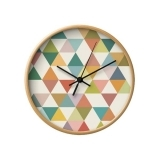 Geometric Triangle Clock - Lime