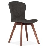 Hudson Upholstered Dining Chair - Dark Grey