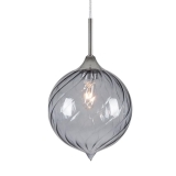 Jewel Sphere Glass Light - Black Transparent