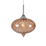 Jewel Oval Glass Light - Coffee