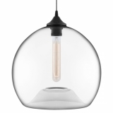 Edison Industrial Globe Modern Pendant Light - Clear