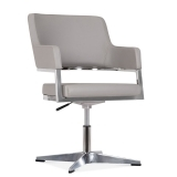Skyline Chair With Aluminium Leg - Smokey Grey - Clearance Sale