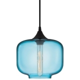 Industrial Oculo Modern Pendant Light - Bright Blue