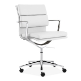 Soft Pad Office Chair with Short Back – White