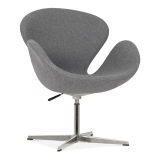 Swan Lounge Chair with Aluminium Leg - Grey