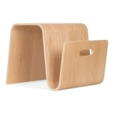 Bentwood Stool & Magazine Rack - Natural