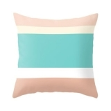 Candy Strip Cushion - Pink and Aqua