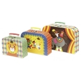 Ingela P Arrhenius Set of 3 Nesting Suitcases - Circus