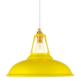 Dulwich Industrial Pendant Light - Yellow