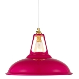 Dulwich Industrial Pendant Light - Hot Pink
