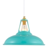 Dulwich Industrial Pendant Light - Aqua