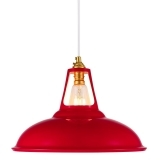 Dulwich Industrial Pendant Light - Red