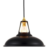 Dulwich Industrial Pendant Light - Black