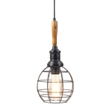 Antoine Industrial Pendant Cage Light - Sphere