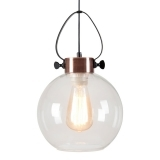 Apoch Sphere Pendant Light - Antique Copper / Clear