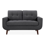 Sander 2 Seater Small Sofa, Fabric Upholstered, Dark Grey