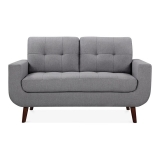 Sander 2 Seater Small Sofa, Fabric Upholstered, Grey