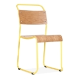 Bauhaus Stackable Chair - Yellow
