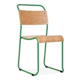 Bauhaus Stackable Chair - Green