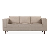 Edgar 3 Seater Sofa, Fabric Upholstered, Cream