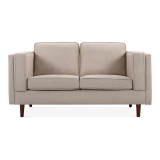 Edgar 2 Seater Small Sofa, Fabric Upholstered, Cream