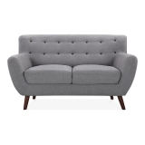 Trent 2 Seater Small Sofa, Fabric Upholstered, Grey
