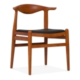 Bruno Dining Chair - Brown / Black Seat
