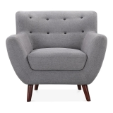 Trent Armchair, Fabric Upholstered, Grey