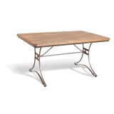 Rectangle Dining Table, Mango Wood and Steel