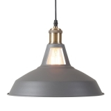 Bushwick Metal Pendant Light - Grey