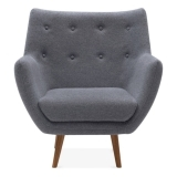 Poet Lounge Armchair - Grey