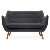 Poet 2 Seater Sofa - Dark Grey
