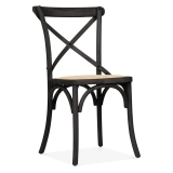 Crossed Back Bistro Chair - Black