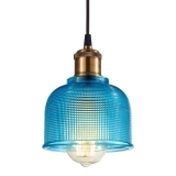 Tulip Glass Pendant Lamp - Blue