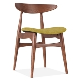 Malmros Upholstered Dining Chair - Walnut / Olive