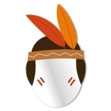 Kids little Native American Mirror