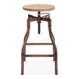 Industrial Swivel Adjustable Stool - Copper 62cm