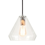 Sonna Dome Glass Pendant Light - Clear