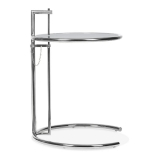 Eileen Gray Style Side Table - Chrome / Tinted Glass