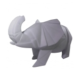 Geometric LED Elephant Lamp - Grey
