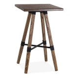 Bastille Square Wooden High Table - Brown