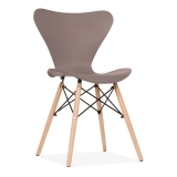 Wave Dining Chair with DSW Style Leg - Warm Grey