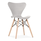 Wave Dining Chair with DSW Style Leg - Light Grey