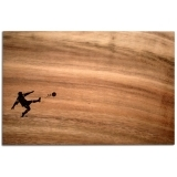 Solid Wood Chopping Board - Footballer