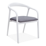 Tobias Dining Chair - White / Grey Seat